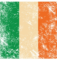 Ireland retro flag vector