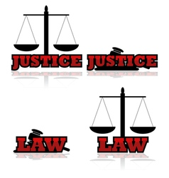 Justice and law vector image vector image