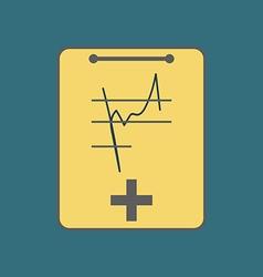 Medical notebook icon vector