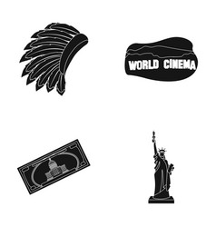 mohavk world cinema dollar a statue of liberty vector image vector image