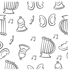 Music theme doodles vector