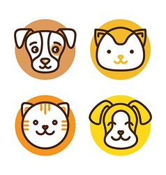 Pet linear icons vector image vector image
