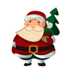 santa claus on white background vector image vector image