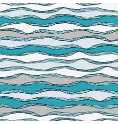 Seamless pattern with abstract wavy ornamen vector image