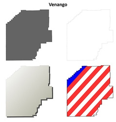 Venango Map Icon Set vector image vector image