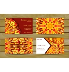 Visiting card and business card with mandala vector
