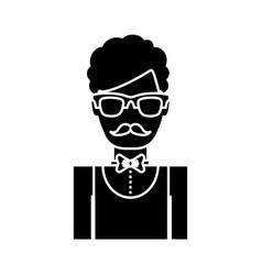 Waiter man icon vector