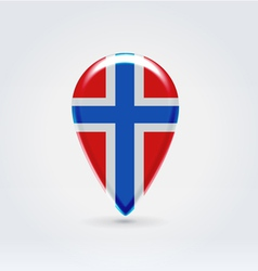 Norwegian icon point for map vector