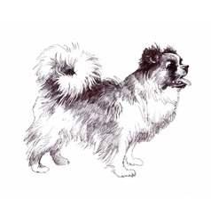 Sketched puppy dog hand drawn vector