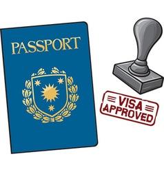 Passport visa approved vector