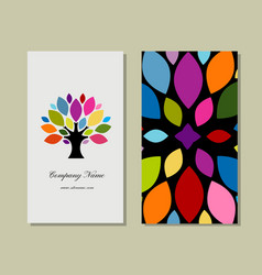 Business card design with art tree vector