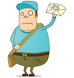 Mailman with letter vector image