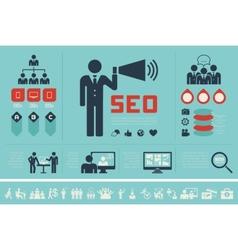 Social media infographic template vector