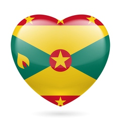 Heart icon of grenada vector
