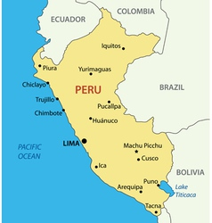 Republic of peru - map vector