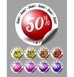 Sale stickers with percents vector image