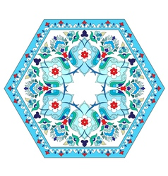 Artistic ottoman pattern series five vector