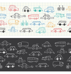 Car banners doodles set vector
