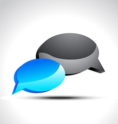 Glossy chat icon vector