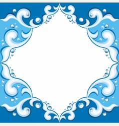 Frame with aqua design vector