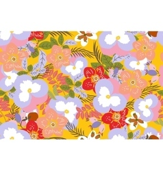 Floral pansy rose background vector