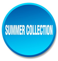 Summer collection blue round flat isolated push vector