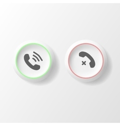 Buttons with phone icon style isolated vector image