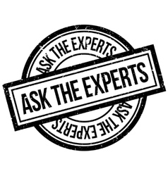 Ask the experts rubber stamp vector