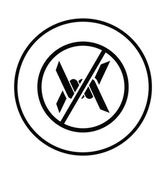 Barbed wire icon vector image