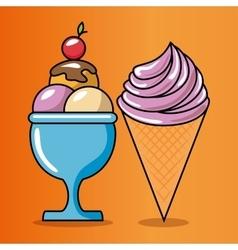 Birthday celebration ice cream vector