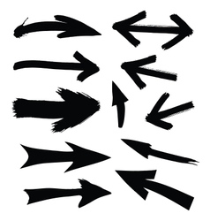 black directional arrows vector image vector image