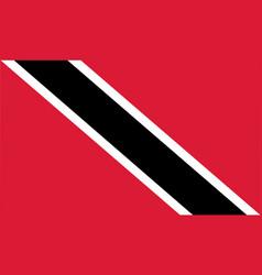 Colored flag of trinidad and tobago vector