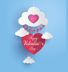 concept of happy valentine day vector image vector image