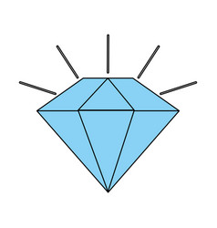 diamond stone cartoon vector image