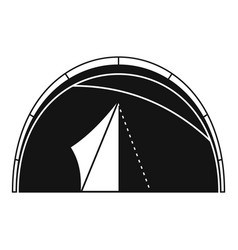 Dome tent icon simple style vector