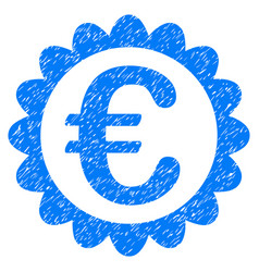 Euro quality grunge icon vector