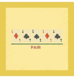flat shading style icon pair poker vector image