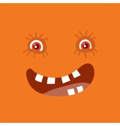 Funny Smiling Monster Smile Bacteria Character vector image vector image
