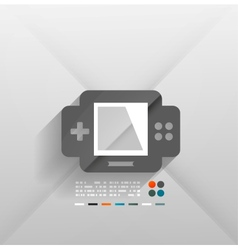 gaming console 3d paper design vector image