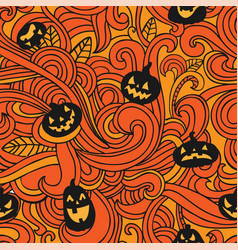 halloween holiday seamless background vector image vector image