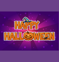 happy halloween card vector image vector image
