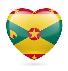Heart icon of grenada vector