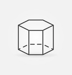 Hexagon 3d icon vector