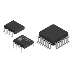 Microchips electronic components vector