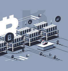 mining crypto currency vector image vector image