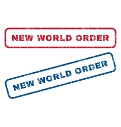 New world order rubber stamps vector