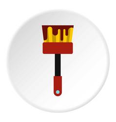 Paint brush icon flat style vector
