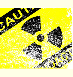 radioactive grunge sign vector image