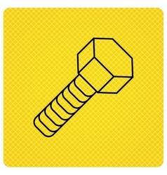 Screw icon bolt sign vector