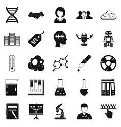 Seo analytics icons set simple style vector